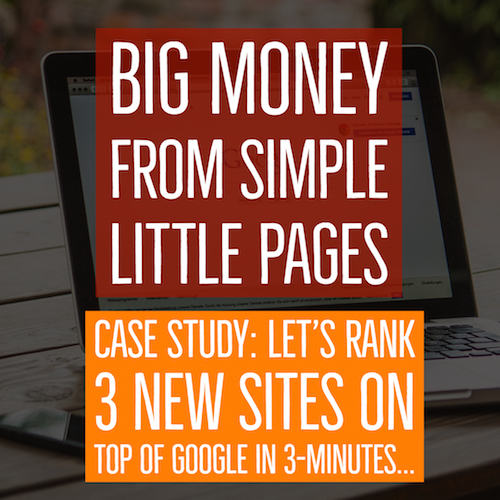 CASE STUDY: BIG MONEY...LITTLE PAGES